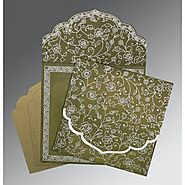 Unique Muslim Wedding Invitations: | Card Code : (I-8211M) |