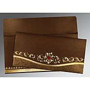 Fancy Muslim Wedding Cards: | Card Code : (I-1499) |