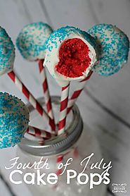 Fourth of July Cake Pops Recipe | Red, White & Blue