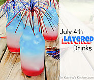 July 4th Layered Drinks Tutorial | www.inkatrinaskitchen.com