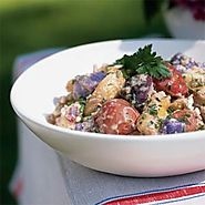 Red, White, and Blue Potato Salad Recipe | MyRecipes.com