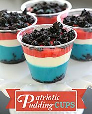 Patriotic Pudding Cups