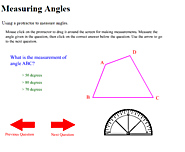 Measuring Angles with Protractor