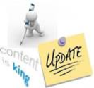 Update your blog and website regularly.