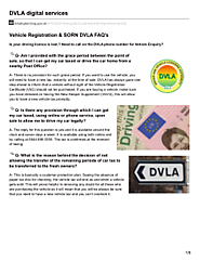DVLA User Guide For Vehicle Reg & SORN - Gov.uk