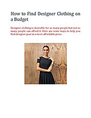 How to Find Designer Clothing on a Budget