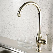 Antique Style Ti-PVD Finish Centerset Brass Kitchen Faucet At FaucetsDeal.com