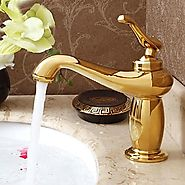 Antique Titanium Finish Brass One Hole Single Handle Sink Faucet At FaucetsDeal.com
