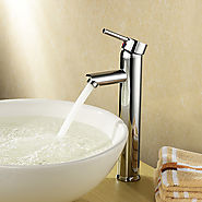 Bathroom Sink Faucet Diamond Shape Chrome Finished Solid Brass Faucet At FaucetsDeal.com