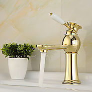 High Quality Contemporary Brass Hot And Cold Bathroom Sink Faucet At FaucetsDeal.com