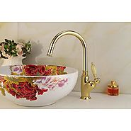Pullout Spray Ti-PVD Finish One Hole Single Handle Kitchen Faucet At FaucetsDeal.com