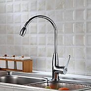 Contemporary Stainless Steel Brushed Delta Kitchen Faucet At FaucetsDeal.com