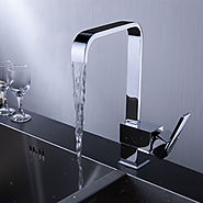 Contemporary Brass Kitchen Faucet (Chrome Finish) At FaucetsDeal.com
