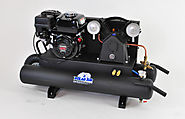 6.5HP 2 Cylinder 13 CFM Honda Gas Powered Wheelbarrow Air Compressor