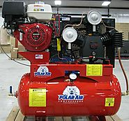 13HP 30 Gallon Gas Drive Air Compressor - Electric Start