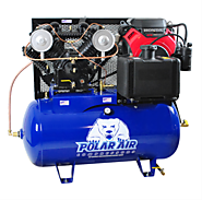18HP 60 Gallon V4 Gas Drive Air Compressor - Electric Start