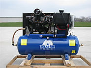 24HP 80 Gallon Gas Drive Air Compressor - Electric Start