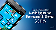 Popular Mobile Application Development Trends in 2015