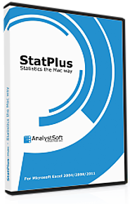 Free Analysis Toolpak Replacement | AnalystSoft | StatPlus:mac | StatPlus | BioStat | StatFi