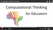 Google Offers A Free Online Computational Thinking Course for Educators ~ Educational Technology and Mobile Learning