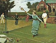 Tennis Players by Horace Henry Cauty, 1885 (British, 1846 - 1909)