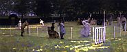 The Tennis Party by Sir John Lavery, R.A. - 1885 (Irish, 1856 – 1941)