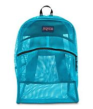 "JanSport® Mesh Backpack 13.8x6.5x18.6""H- Bags - Color Blue - Semi-transparent design and Super-lightweight - Makes it..."