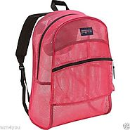 JanSport Mesh Backpack (Majestic Pink) - Backpacks n BagsBackpacks n Bags