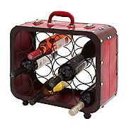 Casa Cortes Suitcase 12-bottle Barware Metal Wine Holder Rack | Overstock.com Shopping - The Best Deals on Wine Racks