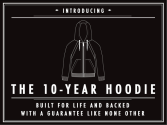 THE 10-YEAR HOODIE: Built for Life, Backed for a Decade!
