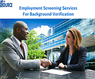 Employment Screening Services For Background Verification
