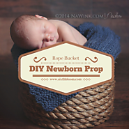 DIY Newborn Prop | Rope Bucket