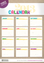 {free printable} 2013 Monthly Calendar | Blog | Botanical PaperWorks