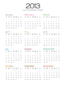 sharp stick in the eye: 2013 One Page Calendar