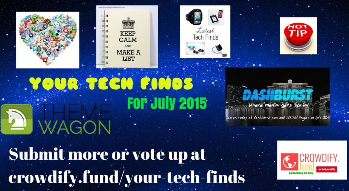 Headline for Your Tech Finds For July 2015 #Crowdify #GetItDone