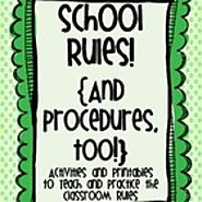 School Rules! {And Procedures, Too!} Activities and Printables to Teach Rules