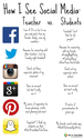 Cool Visual On How Teachers and Students See Social Media ~ Educational Technology and Mobile Learning