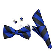 Black & Royal Blue College Team Bow Tie Set