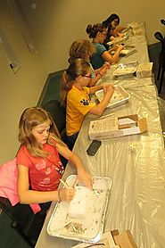 Campers learn about archeology in Egyptian Burial Dig at TTC Continuing Education and Economic Development