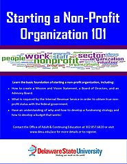 DSU Division of Adult & Continuing Education and Summer Programs hosts course on starting non-profits.