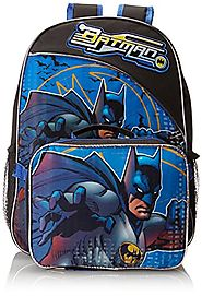 Fast Forward Little Boys' Batman Backpack with Lunch Box