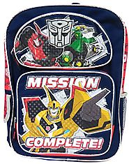 "Transformers Bumblebee ""Mission Complete!"" Large Backpack"