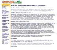 What are Independent and Dependent Variables?-NCES Kids' Zone