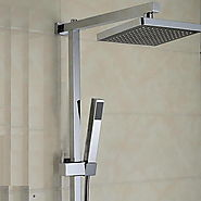 Contemporary Elegant Shower Faucet with 8 inch Shower head At FaucetsDeal.com