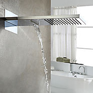 A Grade ABS Chrome Finish Rain Shower Head At FaucetsDeal.com