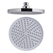 8-inch ABS Circle Rainfall Shower Head At FaucetsDeal.com