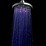 A Grade ABS Chrome Finish LED Rain Shower Head At FaucetsDeal.com