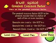 Math Games: Fruit Shoot Greatest Common Factor