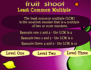 Math Games: Fruit Shoot Least Common Multiple