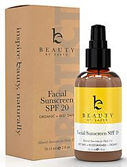 Facial Sunscreen - Face Sunscreen Moisturizer with SPF 20 - Made with Organic & Natural Ingredients, Physical and Min...
